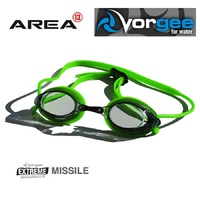 VORGEE MISSILE SWIMMING GOGGLES, SMOKED LENS, GREEN, SWIMMING GOGGLES