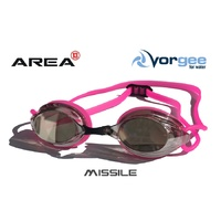 VORGEE MISSILE SWIMMING GOGGLES, MIRRORED LENS, HOT PINK, SWIMMING GOGGLES