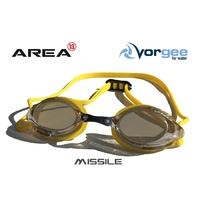 VORGEE MISSILE SWIMMING GOGGLES, MIRRORED LENS, YELLOW, SWIMMING GOGGLES