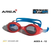 VORGEE VOYAGER JUNIOR SWIMMING GOGGLES, RED BLUE, CHILDREN'S SWIMMING GOGGLES