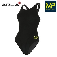 MP TEAM WOMEN'S COMP BACK SOLID BLACK ONE PIECE,  WOMEN'S SWIMWEAR, TRAINING SWIMWEAR