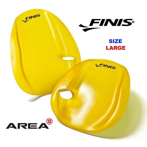 FINIS AGILITY HAND PADDLES SIZE LARGE SWIMMING HAND PADDLES, SWIMMING PADDLES,