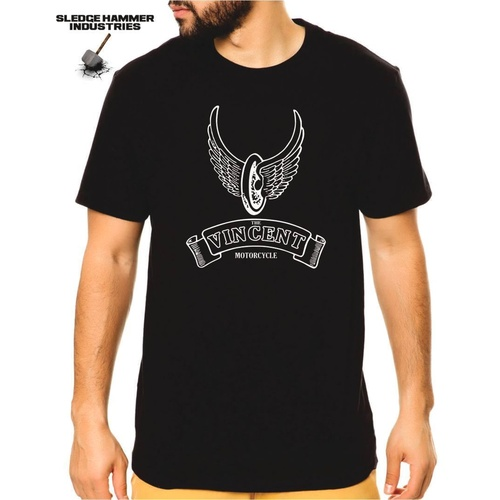 VINCENT MOTORCYCLE T SHIRT, Men's T Shirt, Motorcycle T Shirt , MOTO T Shirts,
