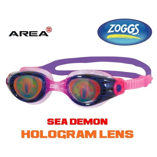 ZOGGS SWIMMING GOGGLES SEA DEMON JUNIOR 6 - 14 KIDS, PURPLE/PINK CHILDREN'S SWIMMING GOGGLES