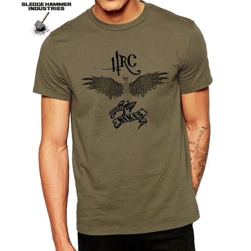 HEADRUSH CUSTOM DARK ANGEL MOTORCYCLE T SHIRT, BOBBER, MEN'S T SHIRT, CAFE RACER
