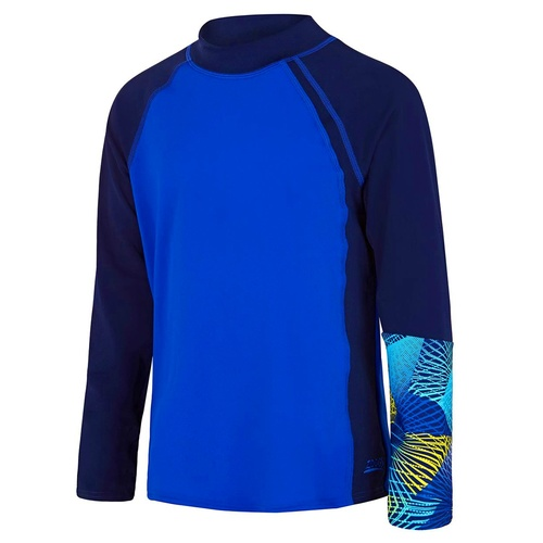 ZOGGS BOYS LONG SLEEVE SUN TOP BLUE, CHILDREN SUN PROTECTION