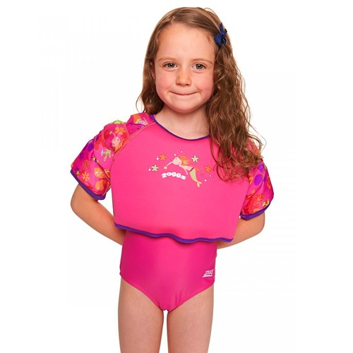 ZOGGS DEEP SEA WATER WING SWIMMING VEST - PINK - CHILDREN'S SWIM JACKET [size: 1 - 2 Years]