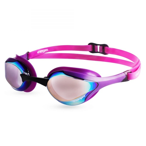 Vorgee Stealth Mkll Competition Swimming Goggles, Mirrored - Purple, Racing Goggles