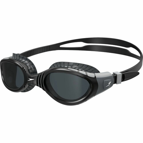 SPEEDO FUTURA BIOFUSE FLEXISEAL SWIMMING GOGGLES - COOL GREY / BLACK SMOKE RRP $40