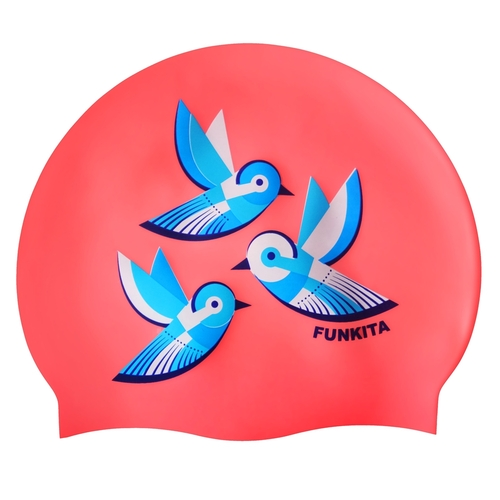 Funkita Swallowed Up Swim Cap, Swimming Cap, Silicone Swim Cap, Swimming Gear