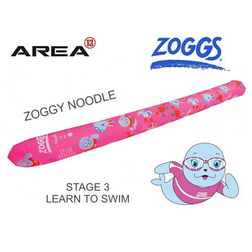 Zoggs Children's Swimming Noodle, Miss Zoggy swim noodle PINK, Learn To Swim, Kids Floaties